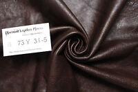 """""""Brinkley Brown"""" Leather Cowhide Remnant - Appx 9 sqft B72Y31-5"""