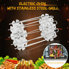 10pcs BBQ Kebab Cage Rotisserie Skewers Stainless Steel Grill For Roaster Oven