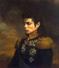 TOP original ART# POP ROCK KING Michael Jackson army uniform print ART painting