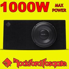 "Rockford Fosgate 10"" Inch POWER 1000w Car Audio Subwoofer Slim Shallow Bass Box"