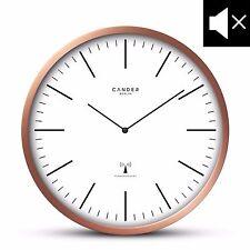 Cander Berlin MNU 3230 Kupfer Funkwanduhr mit lautlosem Uhrwerk Ø 30,5 cm