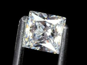 MICRO WHITE DIAMOND GEM PRINCESS CUT AFRICAN GENUINE FACETED NATURAL SQUARE 2mm