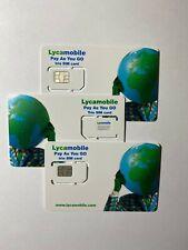 3X LYCAMOBILE LYCA MOBILE PLUS TRIO SIM CARD NANO MICRO STANDARD