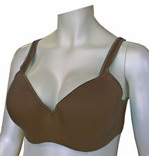 46B 46 B CROWNETTE CHOCOLATE BROWN SOFT STRAPS BRA UNDERWIRE SEAMLESS SOFT CUPS