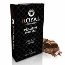 Royal Chocolate Flavored Condoms Ultra Thin Lubricated Vegan Safe Latex 10 Pack