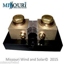 Deltec 500 Amp 50mV DC Shunt for Solar - Use with Midnite Solar Whizbang Jr.