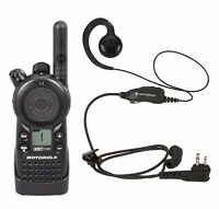 Motorola CLS1110 UHF Business Two-way Radio with HKLN4604 Headset.