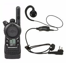 Motorola CLS1110 UHF Business Two-way Radio with RLN6423 Earpiece Headset