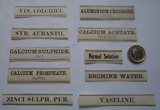50 DIFFERENT  H.SILVERLOCK LONDON ANTIQUE APOTHECARY BOTTLE PRODUCT LABELS