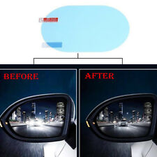 2* Oval Car Auto Anti Fog Rainproof Rearview Mirror Protective Film Accessory lg