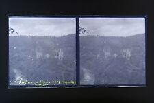 Château de Merle Argentat AuvergnePhoto stéréo négatif sur film souple 1914