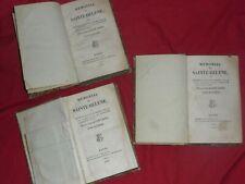 livres MEMORIAL DE SAINT HELENE NAPOLEON par le comte de LAS CASES 1823 3 tomes
