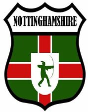 1 x Nottingham Notts County Flag Decal Car Motorbike Laptop Window Sticker