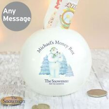 The Snowman and the Snowdog Personalised Money Coin Box Piggy Bank Gift