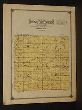 Minnesota Redwood County Map Underwood Township 1914 W3#67