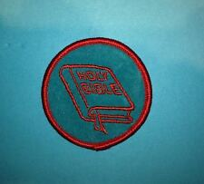 Rare 1980's Holy Bible BSA Girl Scouts Badge Vest Jacket Hoodie Patch Crest