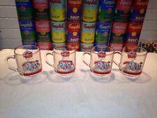 Nice set of (4) Vintage Luminarc Disney 101 Dalmatians Glass Mugs