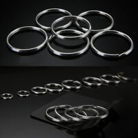 10PCS/SET Portable Stainless Split Rings Key Rings Size 25mm DIY Keychain Newly