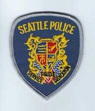 "Seattle (King County) WA Washington Police 3.5"" silver border hat patch - NEW!"