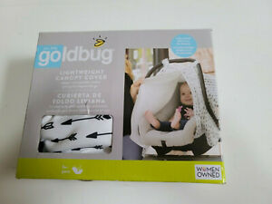 Canopy Cover for Baby Car Seat by Goldbug Co., A Women Owned one, Lightweight