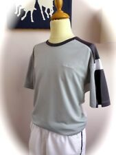 HEAD ♛ Orig. Jungen Kurzarmshirt Tennisshirt T-Shirt Top grau weiß 152 158 NEUw