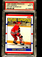 1990 Score #440 RC ERIC LINDROS ~ CANADIAN VERSION ~ HALL OF FAME INDUCTEE PSA 9