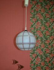 Vintage Noble Lampe 60er années 70 Plafonnier Verre bille à carreaux Indémodable