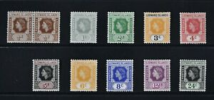 LEEWARD ISLANDS, QEII, 1954, 11 stamps from set to 24c. value, MM, Cat £20.