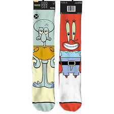 Odd Sox Men's Squidward and Mr. Krabs Socks Multi-color casual active sports