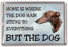 "Greyhound Dog Fridge Magnet ""Home is Where""  by Starprint"