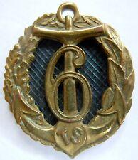 Insigne 6° RTS 1939  Tirailleurs Sénégalais Troupes Coloniales ORIGINAL