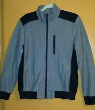 Kenneth Cole Reaction Men's Birdseye-Knit Zipped Moto Sweatshirt Med- NWT !