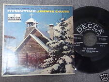 JIMMIE DAVIS hymn time EP 45 w/ Pic sleeve 4 song EP