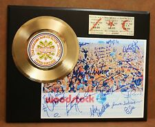 WOODSTOCK CONCERT TICKET SERIES GOLD RECORD LTD EDITION DISPLAY