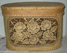 Storage Box w Lid Made of Wood in Siberia All Natural Roses on Front 30x21x19.5c