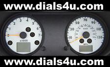 FORD FIESTA Mk6 (2008-2010) - 130mph or 140mph (Petrol or Diesel) WHITE DIAL KIT