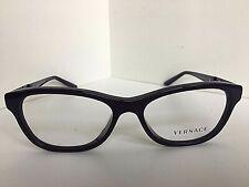 New Versace Mod. 1232-B-A 6450 Purple 54mm Cats Eye Women's Eyeglasses Italy