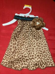 Lulu pink DOG OR CAT LEOPARD PRINT WITH SEQUINS DRESS ♡ SIZE SMALL ♡ SO CUTE
