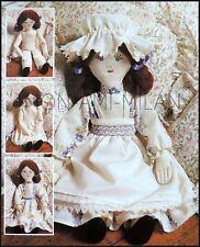 De Colección patrón de costura en Muñeca de trapo vestido enagua Pantalones Delantal Cap Dolly Juguete
