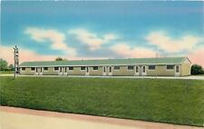 Morristown Ohio~Star Motel~National Highway~Route 40~1950s Postcard