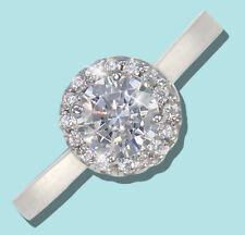75 KT Halo Anello Top Russo qualità zirconia cubica argento sterling MISURA 9
