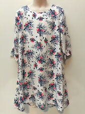 Old Navy Girl Rayon 3/4 Sleeves Floral Dress Size XS 6-7 Camisole Lining