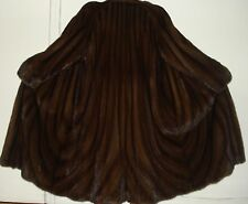 Neiman Marcus Directional Style Mahogany Mink Fur Coat Size 16-18 Excell Conditi
