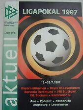 DFB aktuell LIGAPOKAL 18.-26.07.1997 Bayern München Bayer Leverkusen