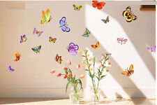 21PCS  Butterfly Removable Wall Sticker Flower Home Vinyl Kids Nursery