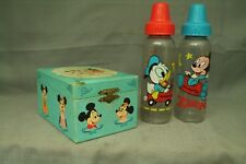 vintage Mickey Minnie Mouse dancing ballerina music jewelry box & baby bottles