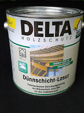 (13,99€/L.) DELTA Holzschutz Dünnschicht-Lasur Farblos   2,5 Liter