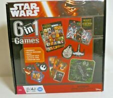 New Disney Star Wars 6 in 1 Games Dice Dominoes Matching Bingo Galactic Spin