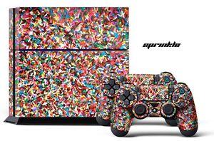 Designer Skin PS4 Playstation Sticker 4 Console Controller Decals SPRINKLE
