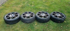 "VW Audi RS4 Style 18"" Alloys Diamond Cut. With tyres. VW MK5 GOLF GTI B5 S4 T4"